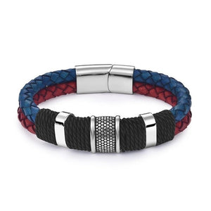 Men's Woven Braided Leather Bracelets