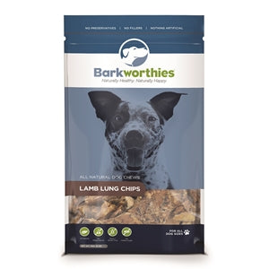 Barkworthies Lamb Lung Chips - wigglewaggleworld
