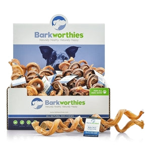 Barkworthies Bully Stick - Curly - Long - wigglewaggleworld