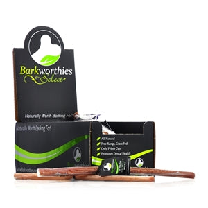 "Barkworthies Bully Stick - Odor Free - 12"" Select - wigglewaggleworld"