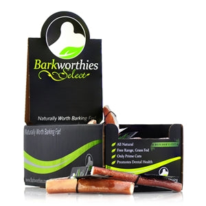 "Barkworthies Bully Stick - Odor Free - 06"" Select Butcher's Cut - wigglewaggleworld"