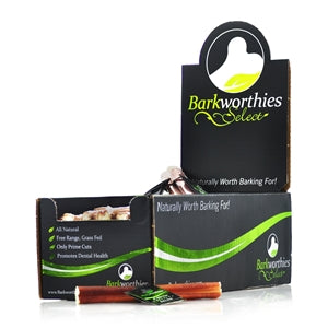 "Barkworthies Bully Stick - Odor Free - 06"" Select - wigglewaggleworld"