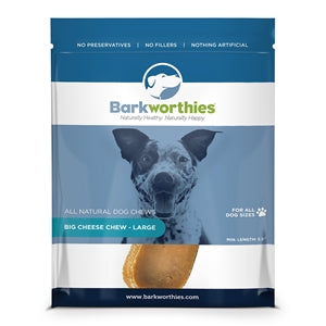 Barkworthies Big Cheese Chew - Large - wigglewaggleworld