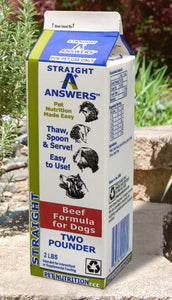 Answers Pet Food Straight Beef Formula For Dogs 4lb Carton - wigglewaggleworld