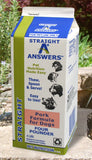 Answers Pet Food Straight Pork Formula For Dogs  4lb Carton - wigglewaggleworld