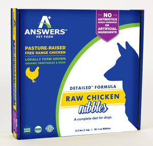 Answers Pet Food Detailed Chicken Formula For Dogs Nibbles - wigglewaggleworld