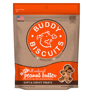 Buddy Biscuits Original Soft & Chewy Treats: Peanut Butter - wigglewaggleworld