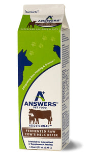Answers Pet Food Additional Fermented Raw Cow's Milk Kefir - wigglewaggleworld
