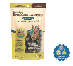 Ark Naturals Breath-Less Chewable Brushless-Toothpaste Mini - wigglewaggleworld