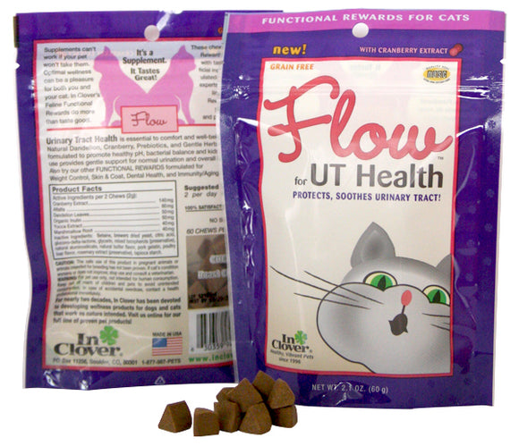 In Clover FLOW Urinary Tract Support for Cats - wigglewaggleworld