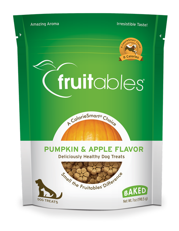Fruitables Dog Treats Pumpkin & Apple - wigglewaggleworld