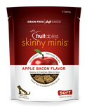 Fruitables Skinny Minis Dog Treats Apple Bacon - wigglewaggleworld