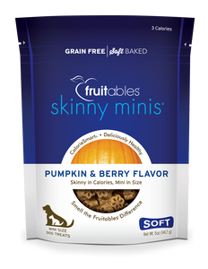 Fruitables Skinny Minis Dog Treats Pumpkin & Berry - wigglewaggleworld
