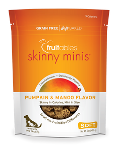Fruitables Skinny Minis Dog Treats Pumpkin & Mango - wigglewaggleworld