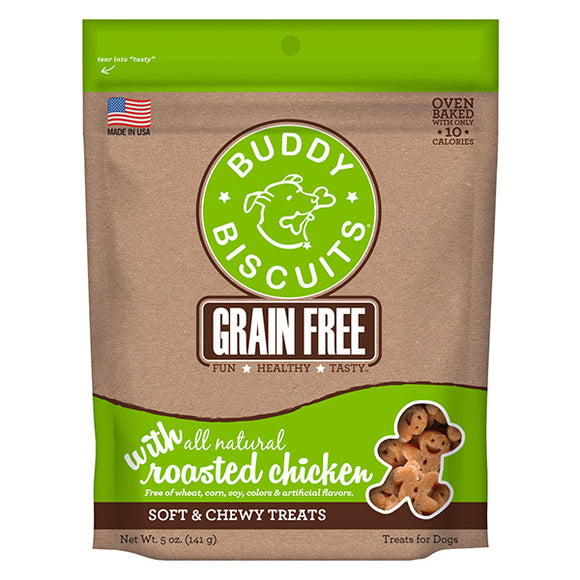 Buddy Biscuits Grain Free Soft & Chewy Treats: Roasted Chicken - wigglewaggleworld