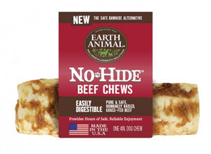 Earth Animal No-Hide Beef  4 Inch Chews - wigglewaggleworld