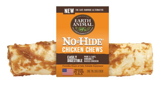 Earth Animal No-Hide Chicken 7 Inch Chews - wigglewaggleworld