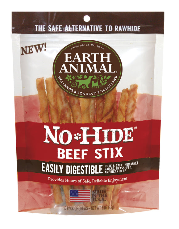 Earth Animal No-Hide Beef Stix - wigglewaggleworld
