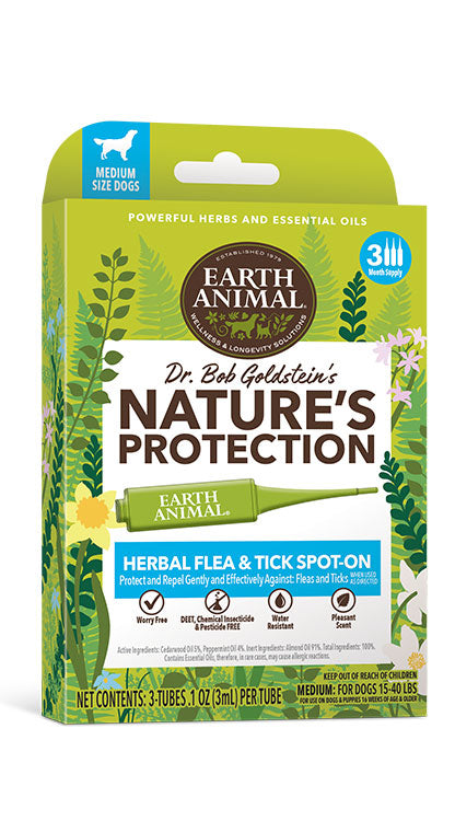 Earth Animal Natural Protection Flea & Tick Spot On for Dogs - wigglewaggleworld