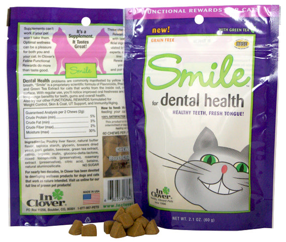 In Clover SMILE Soft Dental Chews For Cats - wigglewaggleworld