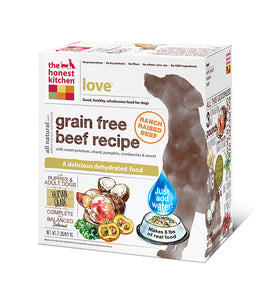 The Honest Kitchen Love Grain Free Beef Dog Food - wigglewaggleworld
