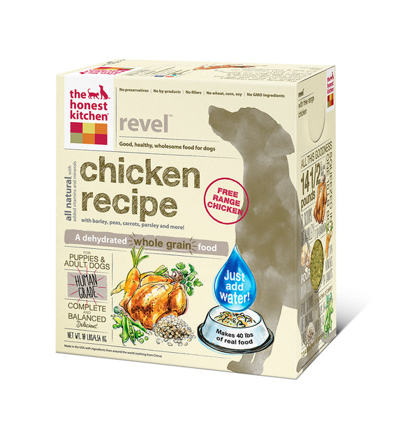 The Honest Kitchen Revel Whole Grain Chicken Dog Food - wigglewaggleworld