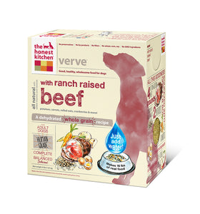 The Honest Kitchen Verve Whole Grain Beef Dog Food - wigglewaggleworld