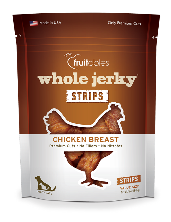 Fruitables Whole Jerky Roasted Chicken Dog Treats - wigglewaggleworld