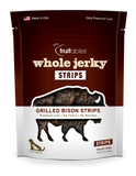 Fruitables Whole Jerky Grilled Bison Strips Dog Treats - wigglewaggleworld