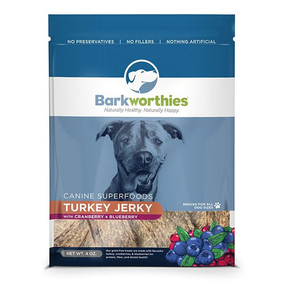 Barkworthies Turkey with Cranberry & Blueberry Superfood Jerky - wigglewaggleworld