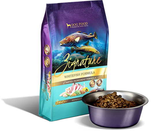 Zignature Limited Ingredient Whitefish Formula Dog Food - wigglewaggleworld