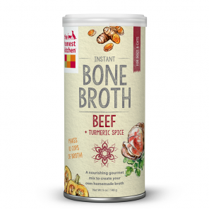 The Honest Kitchen Instant Beef Bone Broth with Tumeric - wigglewaggleworld