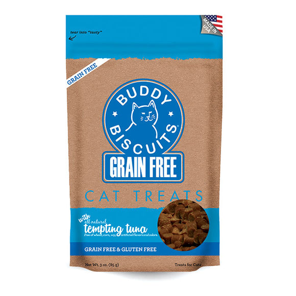 Buddy Biscuits Grain Free Buddy Biscuits for Cats: Tempting Tuna - wigglewaggleworld