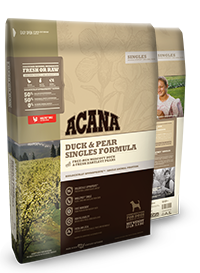 Acana Singles Duck and Pear Formula Grain Free Dry Dog Food WiggleWaggleWorld.com