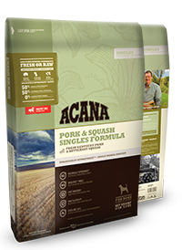 Acana Singles Pork and Squash Formula Grain Free Dry Dog Food WiggleWaggleWorld.com