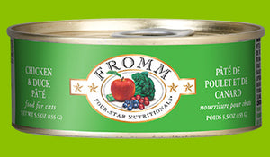 Fromm Four Star Chicken & Duck Pate Canned Cat Food - wigglewaggleworld
