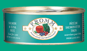 Fromm Four Star Salmon & Tuna Pate Canned Cat Food - wigglewaggleworld