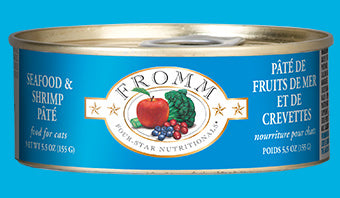 Fromm Four Star Seafood & Shrimp Pate Canned Cat Food - wigglewaggleworld