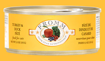 Fromm Four Star Turkey & Duck Pate Canned Cat Food - wigglewaggleworld