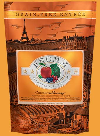 Fromm Four Star Chicken au Frommage Recipe Grain Free Dog Food - wigglewaggleworld