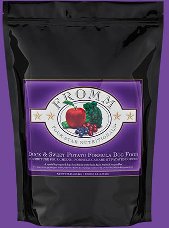Fromm Four Star Duck and Sweet Potato Dog Food - wigglewaggleworld