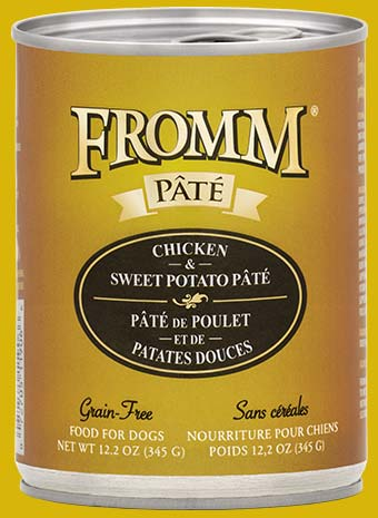 Fromm Four Star Chicken & Sweet Potato Pate Canned Dog Food - wigglewaggleworld