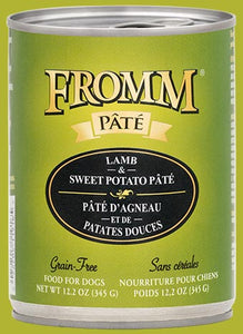 Fromm Four Star Grain Free Lamb & Sweet Potato Canned Dog Food - wigglewaggleworld