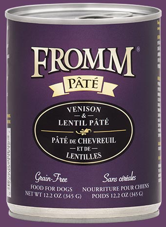 Fromm Four Star Venison & Lentil Pate Canned Dog Food - wigglewaggleworld