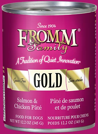 Fromm Gold Salmon & Chicken Pate Canned Dog Food - wigglewaggleworld