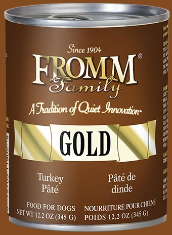Fromm Gold Turkey Pate Canned Dog Food - wigglewaggleworld