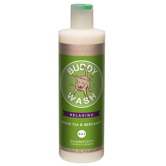 Buddy Biscuits Buddy Wash® Green Tea & Bergamot 2-in-1 Shampoo + Conditioner - wigglewaggleworld