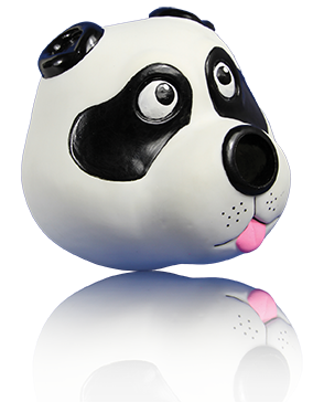 Starmark  TREAT Dispensing Panda - wigglewaggleworld