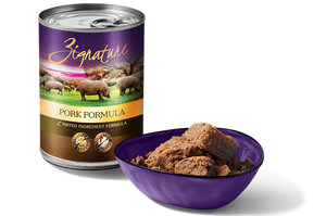 Zignature Limited Ingredient Pork Formula Canned Dog Food - wigglewaggleworld