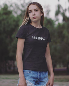 Women's Phases of the Moon Tee